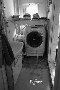 洗面所の工事前